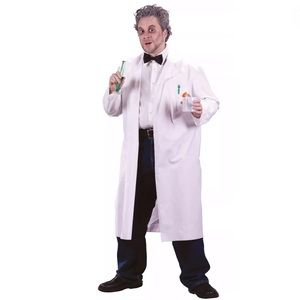 Mad Scientist Doctor Lab Coat Jacket White Costume